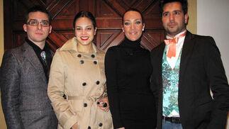 Los diseñadores Daniel Lora, Rosa Iglesias (El Jardín de Lulaila), Sofía Rivera y Pablo Lanzarote.  Foto: Victoria Ramírez