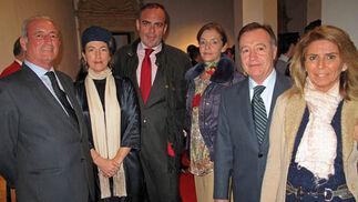Rafael Jiménez, Aurora Víu, Gonzalo Cobo, Myriam Díaz, Francisco León y Carmen Sánchez de Lamadrid.  Foto: Victoria Ramírez