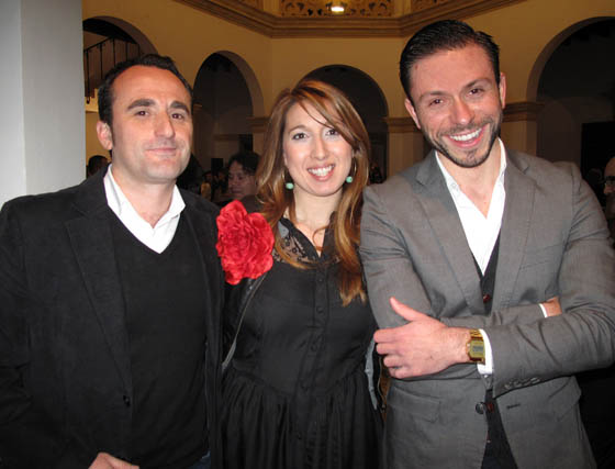 Alfredo Martínez, Gloria de Vicente y Andrés Alfonso Cámara, equipo de Sevilla de Moda.  Foto: Victoria Ramírez