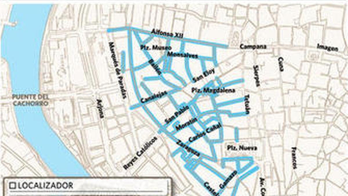 Zona Azul Sevilla Mapa.La Zona Azul Vuelve El Lunes A 70 Calles Donde Fue Abolida