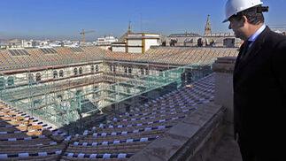 Las obras del hotel más importante de la ciudad, el Alfonso XIII.  Foto: Juan Carlos Vázquez
