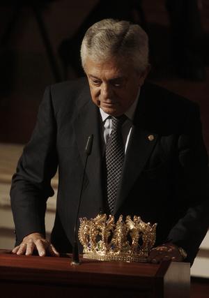 Francisco Herrero agradece su proclamación como Rey Gaspar.   Foto: B. Vargas