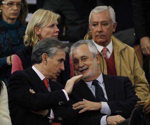 El presidente andaluz, Juan Antonio Griñán, que acudió finalmente a La Cartuja.  Foto: Antonio Pizarro