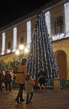 Alumbrado público del centro de Sevilla 2011.  Foto: B.Vargas