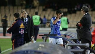 Para colmo de males, Robusté fue expulsado poco después del 0-1.   Foto: Pascual