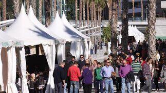 El Muelle Uno se llenó de público en su primer fin de semana tras una accidentada apertura  Foto: Javier Albiñana