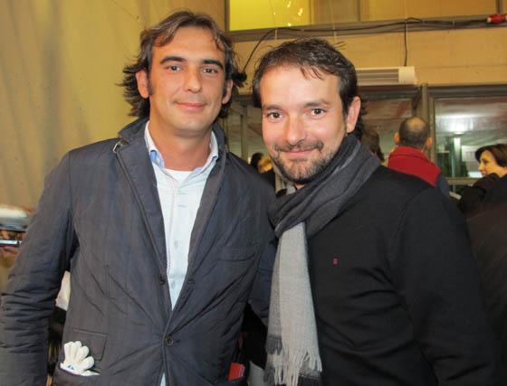 Óscar Vega, gerente de Antique, y Álex Ortiz, compositor del himno oficial de la Copa Davis.  Foto: Victoria Ramírez