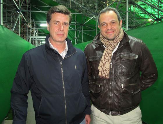 Cayetano Martínez de Irujo y Luis Cuervas, delegado de la UEFA  Foto: Victoria Ramírez