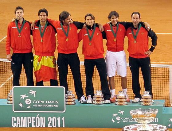 El equipo de España, campeón de la Davis 2011  Foto: Victoria Ramírez