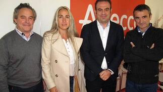 Francisco Mesonero, director general de FundaciónAdecco; Belén Puerto,Gabriel Escarrer, consejero delegado de Sol Meliá, y Enrique Sánchez, presidente de Adecco.  Foto: Victoria Ramírez