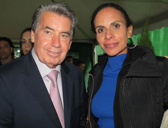 El ex jugador de tenisManuel Santana, ganador de cuatro torneos de Gran Slam, y Claudia Rodríguez.  Foto: Victoria Ramírez