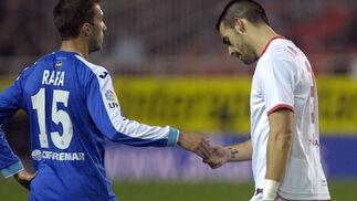 El Sevilla gana con autoridad al Getafe en el Sánchez Pizjuán. / Manuel Gómez