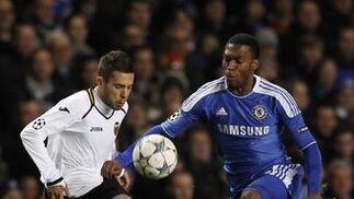 El Valencia cae eliminado de la Liga de Campeones ante el Chelsea en Stamford Bridge (3-0). / Reuters