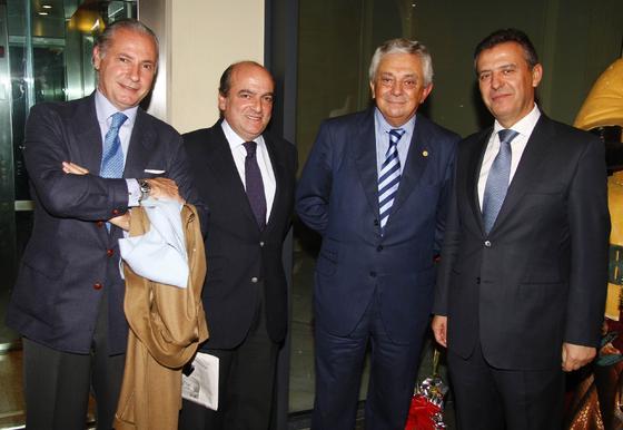 Leonardo Rodríguez de la Borbolla, Luis Miguel Martín Rubio, Francisco Herrero y Francisco Arteaga.  Foto: J. C. Vázquez y Victoria Hidalgo