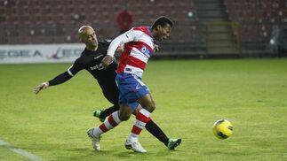 El Granada cede un empate en la última media hora del partido suspendido ante el Mallorca (2-2). / Miguel Rodríguez