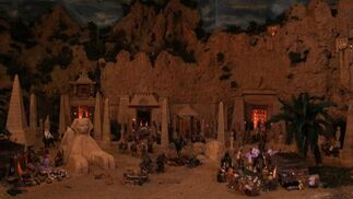 El belén de la mítica barraiada de La Mosca se montó por primera vez en el año 1992.   Foto: Migue Fernandez