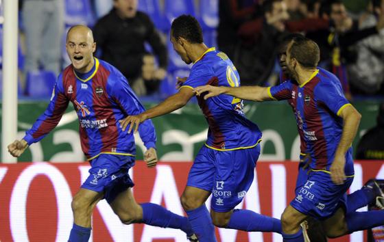 La celebración del gol.  Foto: AFP