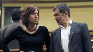 Los diputados Irene Lozano y Toni Cnató de UPyD  Foto: EFE
