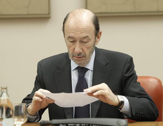 Alfredo Pérez Rubalcaba presidió la reunión del Grupo Socialista en el Congreso de los Diputados.  Foto: EFE