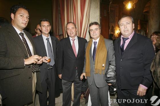 Andrés Santos, de AJE, Miguel Berraquero, José Ferradans, Antonio Real, edil de Turismo en Jerez, y Benjamín Sánchez  Foto: Joaquin Pino