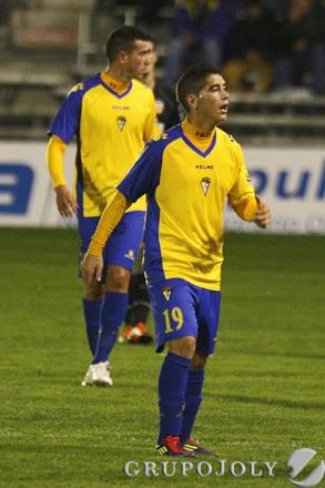Dieguito fue el mejor del Cádiz en el primer periodo.  Foto: Joaquin Pino