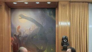 El rey conversa con Mariano Rajoy  Foto: EFE