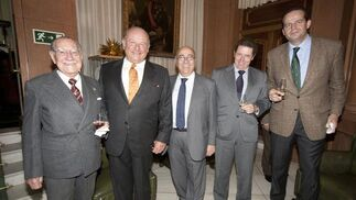 Francisco Maldonado, Álvaro Domecq, Fuastino Rodríguez, Isaac Camacho y Michi Primo de Rivera.  Foto: Alberto Morales