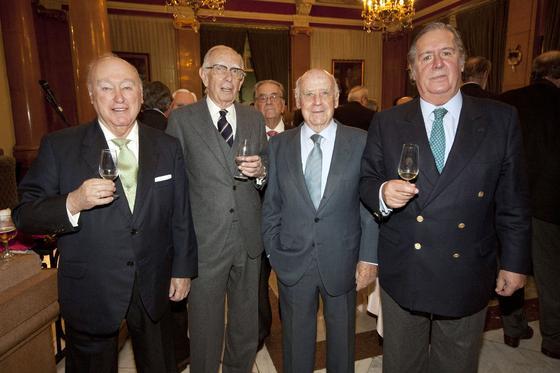 Alfredo Erquicia Guardiola, Patricio Pemán Medina, José Joaquín Ysasi Isasmendi y Salvador Rivero.  Foto: Alberto Morales