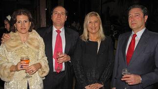 Inés Moreno, Emilio Lázaro, Ángela Pallarés y Ángel Ruiz.  Foto: Victoria Ramírez