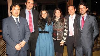 Antonio de la Campa Cervera, Miguel Bermudo Quijada, María Fernández-Cabrero, Lourdes Barba, Álvaro Foronda y Víctor Ceballos.  Foto: Victoria Ramírez