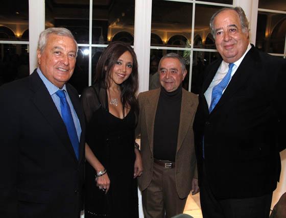 Manuel Cepero, presidente de Fundación Machado, Elizabeth Cruzado, Felipe Calle, catedrático de Literatura, y Antonio Villamor (El Corte Inglés).  Foto: Victoria Ramírez