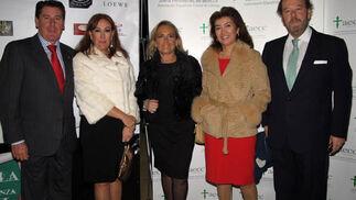 Miguel Gallego, Rosa García Alonso, Mercedes Gallardo, Lali Murillo y Pablo Beca.  Foto: Victoria Ramírez
