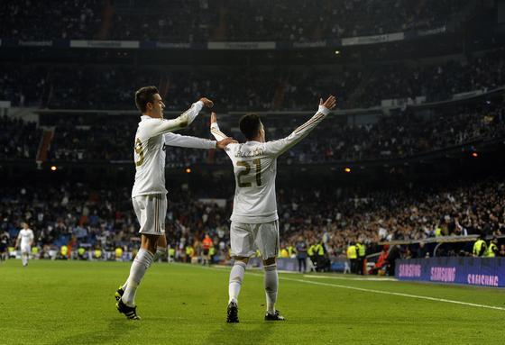 El Real Madrid solventa el trámite de la vuelta de la Copa del Rey ante la Ponferradina (5-1). / AFP