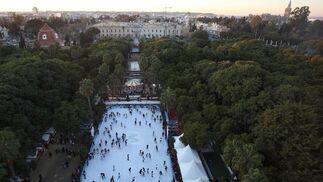 Vista aérea de la pista de patinaje.  Foto: José Ángel García
