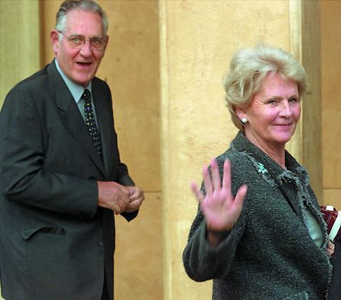 Juan Urdangarín y Claire Liebaert, padres de Iñaki Urdangarín.  Foto: REUTERS