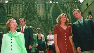 Visita a la Catedral de Barcelona.  Foto:  EFE