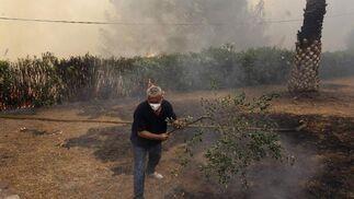 El fuego arrasa miles de hectáreas en comarcas del interior de la provincia de Valencia.  Foto: Reuters