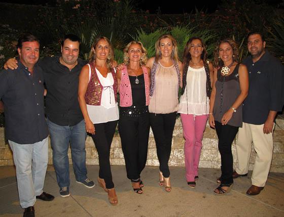 El grupo 'Siempre Así', que cerró con su música la gala del 50 Aniversario de EUSA.  Foto: Victoria Ramírez