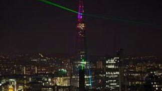 Londres inaugura el edificio The Shrad, el más alto de Europa.  Foto: AFP