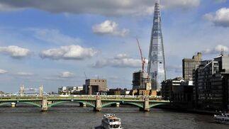 Londres inaugura el edificio The Shrad, el más alto de Europa.  Foto: EFE