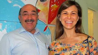 Fernando Loring Lasarte (Óptima Consulting) con su hija, la pintora Inés Loring.  Foto: Victoria Ramírez