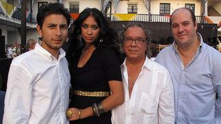 Emilio Molina, Manuela Amador, Joaquín Amador y Gabriel López.  Foto: Victoria Ramírez