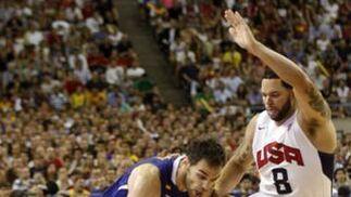 Imágenes del amistoso España-EEUU.  Foto: AFP