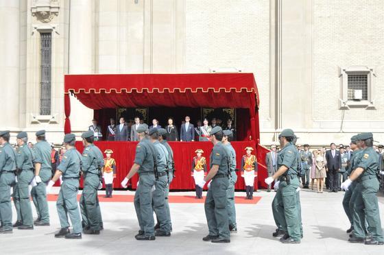 El Rey y la Familia Real presiden el desfile y las celebraciones de la Fiesta Nacional.  Foto: Efe
