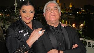 Charo Reina y Miguel Caiceo, presentadores de la gala.  Foto: Victoria Ramírez