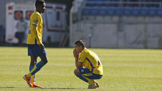 El Cádiz enlazaba así su sexta semana consecutiva sin ganar.   Foto: Julio Gonzalez