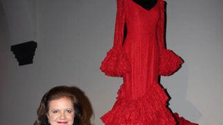 Pilar Vera, con su diseño.  Foto: Victoria Ramírez
