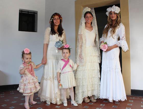 Diseños de novia de Lucía Hernández-Franch.  Foto: Victoria Ramírez