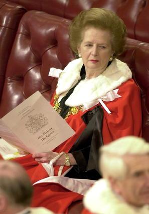 Margaret Thatcher, en la Casa de los Lores en 2000.  Foto: EFE