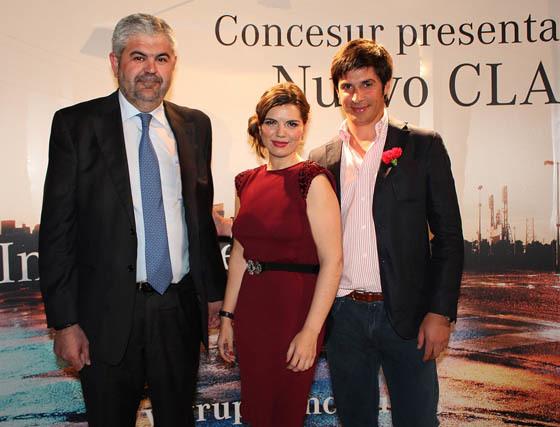 José Carranza (gerente), Sara Moreno (Marketing), y Joaquín Fernández-Vial, de Grupo Concesur.  Foto: Victoria Ramírez